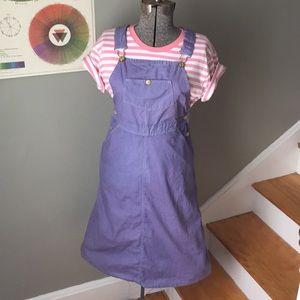 Vintage Madewell Lavender Overall Dress